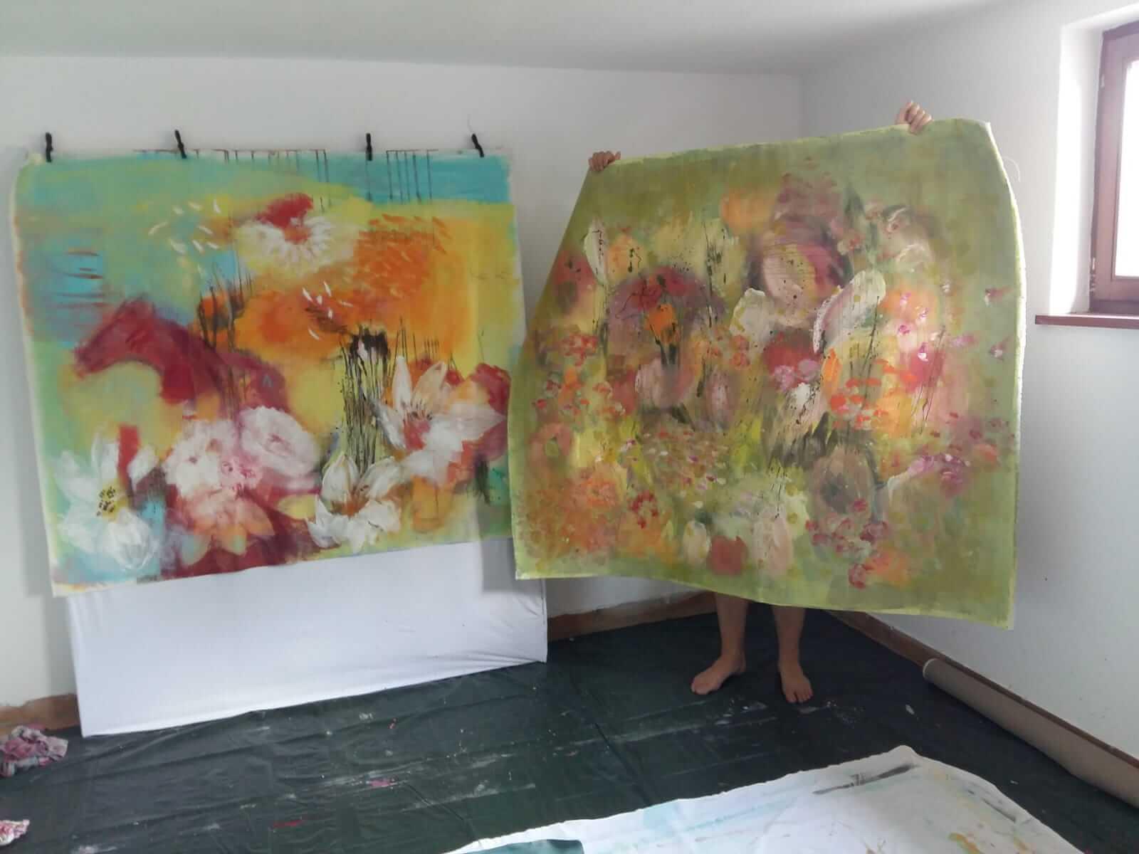 Foto vom Atelier von Maria Kohlberger | Copyright Pension Ebner